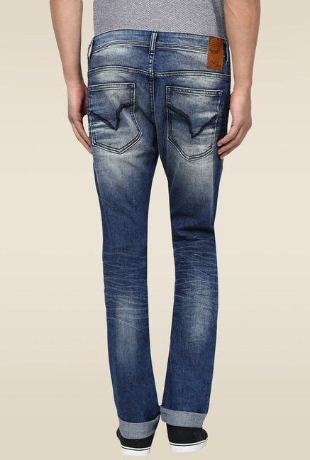 Mufti Dark Blue Slim Fit Jeans