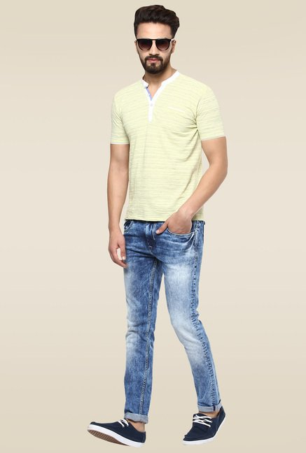 Mufti Dark Blue Narrow Fit Jeans