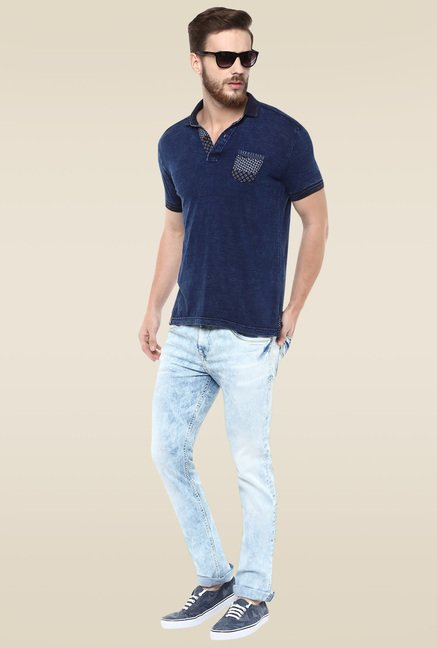 Mufti Ice Blue Narrow Fit Jeans