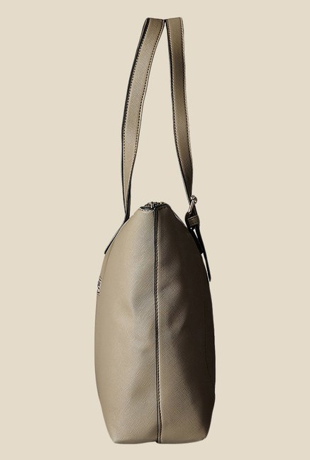 Lavie Snooker Khaki Textured Medium Tote Bag