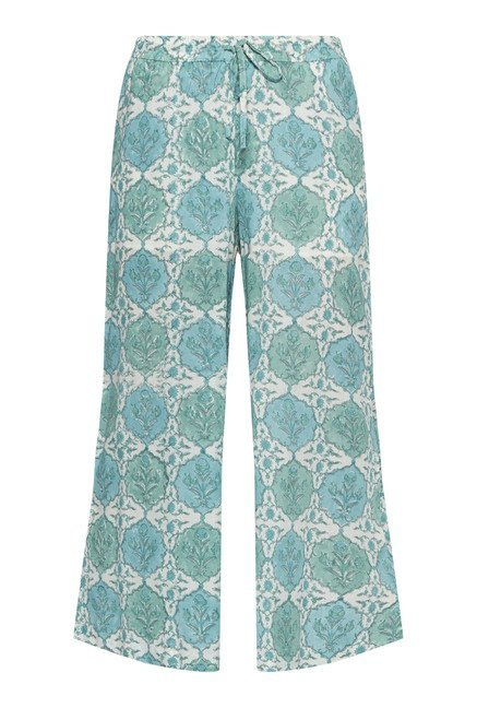 Zuba by Westside Green Floral Print Palazzos