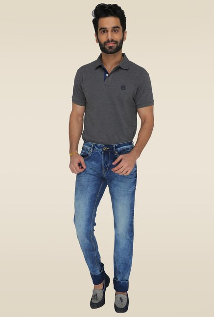Greenfibre Light Blue Slim Fit Mid Rise Jeans