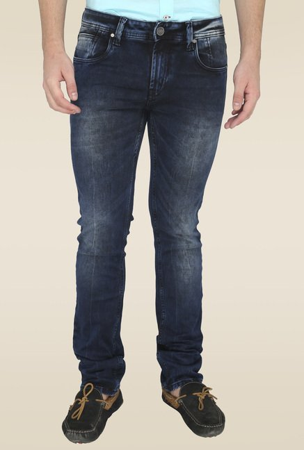 Jadeblue Dark Blue Solid Denim Jeans
