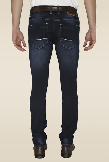 Greenfibre Dark Blue Solid Jeans