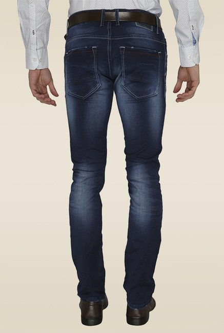 Greenfibre Dark Blue Mid-rise Jeans
