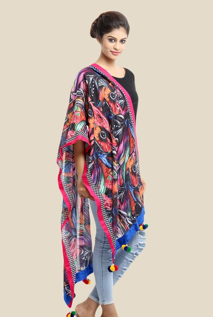 Grishti Madhubani Multicoloured Printed Cotton Stole