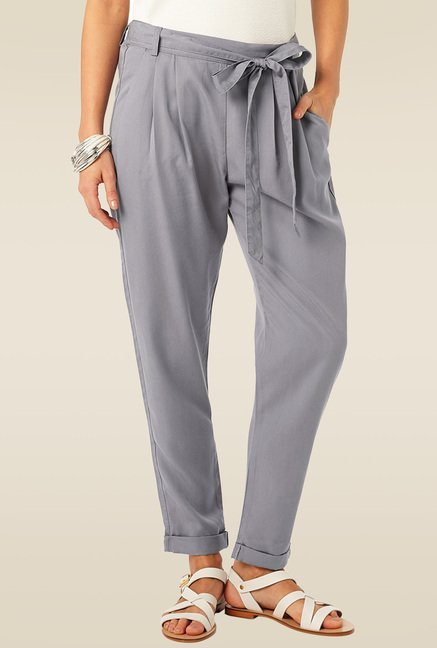 Phase Eight Grey High Rise Trousers
