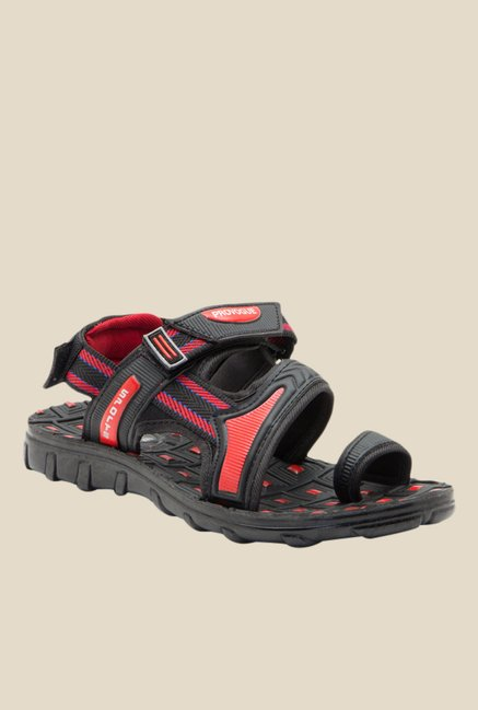 c5c622fce7f15c Buy Provogue Red   Black Back Strap Sandals for Men at Best Price   Tata  CLiQ