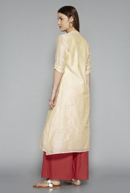 Utsa by Westside Beige Striped Kurta