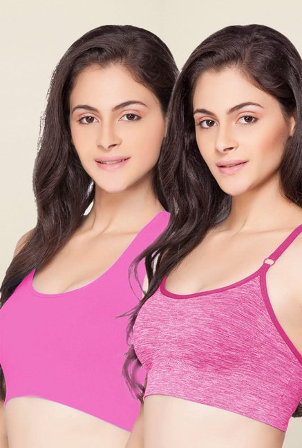 C9 Seamless Pink Non Padded Bra (Pack Of 2)