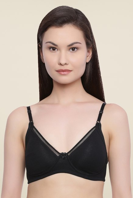 Rosaline By Zivame Black Non Padded Bra