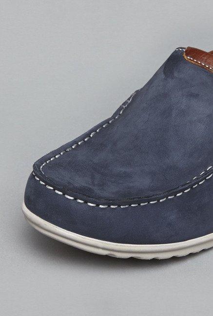 6dc2533786b Buy David Jones by Westside Navy Leather Loafers For Men Online At ...