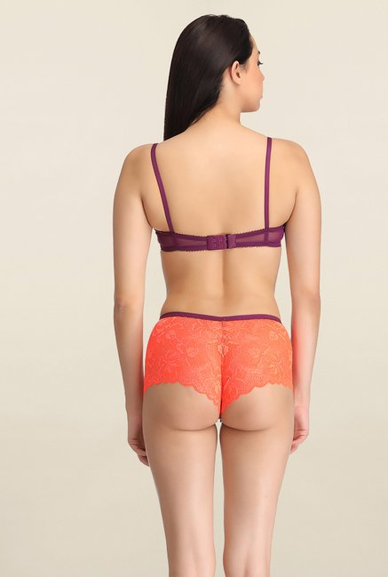Clovia Orange Under Wired Bikini Set