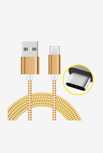 Amzer 1M USB Type C Data Sync Braid Cable (Gold)