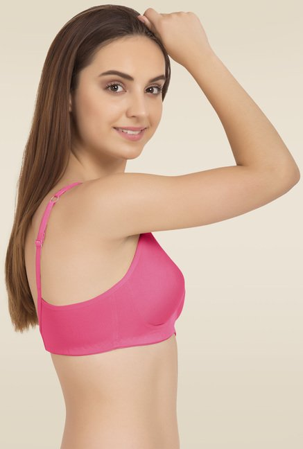 Tweens Dark Pink Full Coverage Non Padded T-Shirt Bra