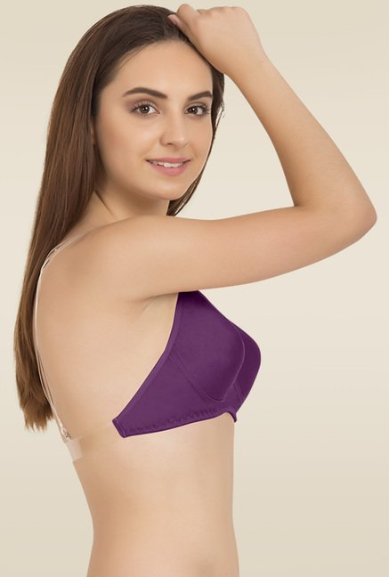 Tweens Purple Full Coverage Non Padded Bra