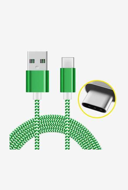 Amzer 1M USB Type C Data Sync Braid Cable (Green)