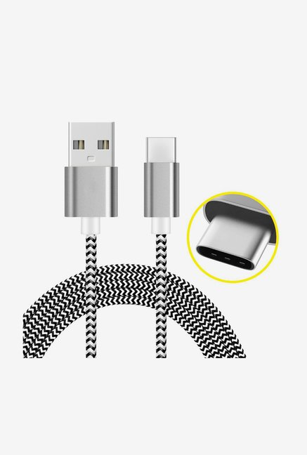 Amzer 1M USB Type C Data Sync Braid Cable (Grey)