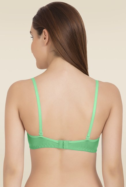 Tweens Green Non Padded Half Coverage Bra