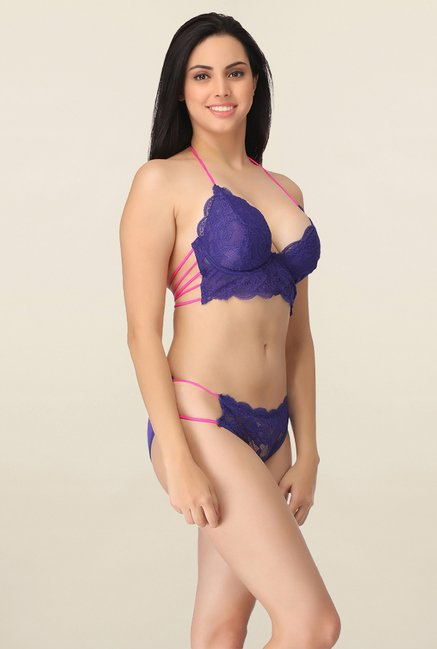 Clovia Blue Under Wired Bikini Set