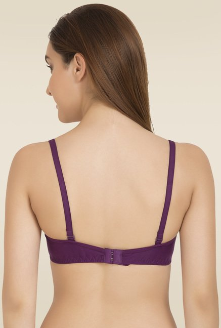 Tweens Purple Non Padded Seamless T-Shirt Bra