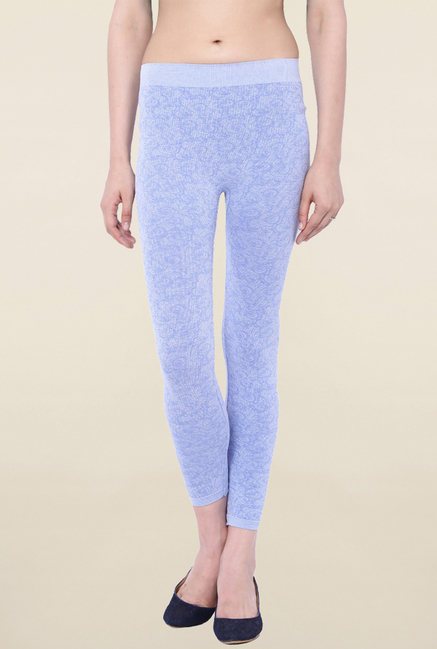 C9 Seamless Blue Self Print Leggings