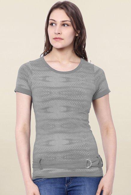 C9 Seamless Grey Printed Top