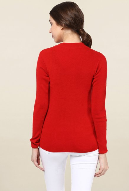Cayman Red Solid Sweater