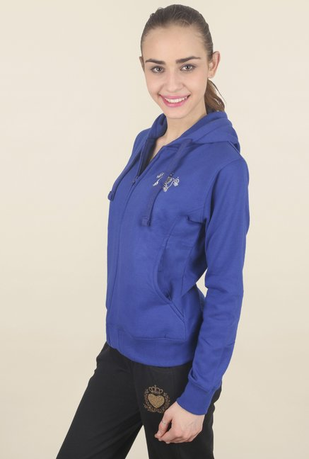 Cayman Blue Solid Sweatshirt