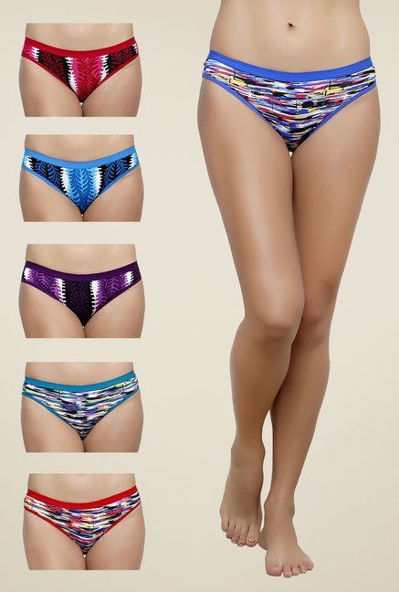 Softrose Multicolor Printed Panties  Pack Of 6