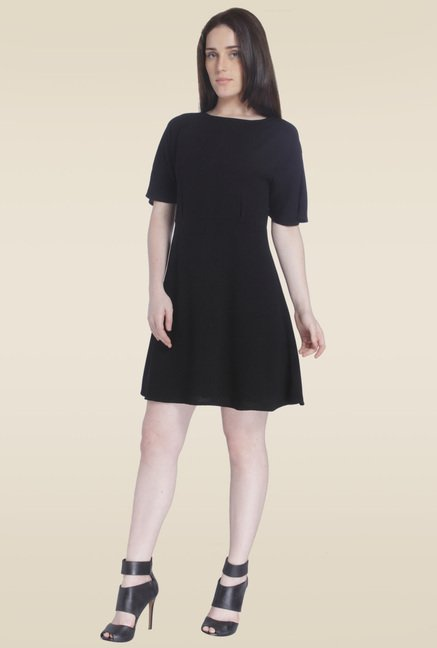 Vero Moda Black Half Sleeve Dress