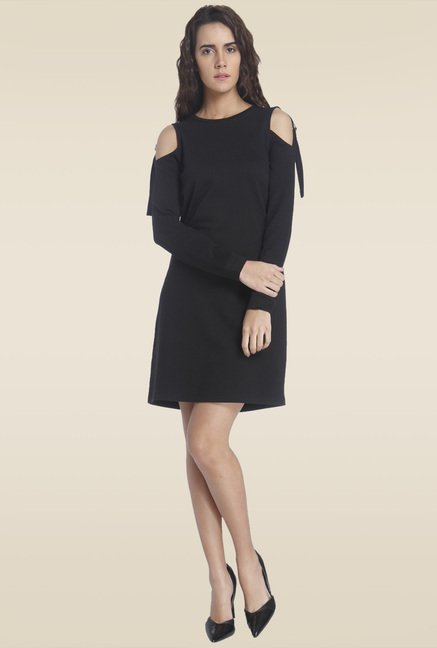Vero Moda Black Round Neck Dress