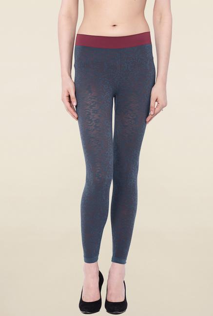 C9 Seamless Grey Printed Leggings