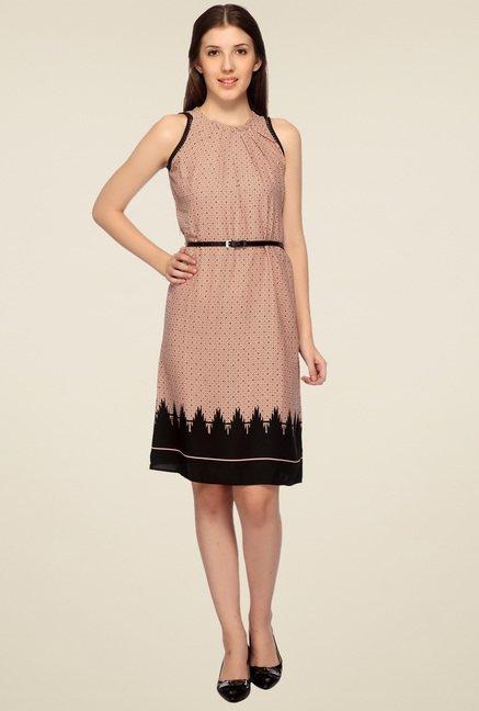 Mineral Pink Mist Midi Dress