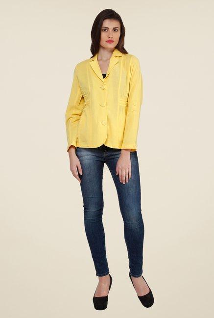 Oxolloxo Yellow Linen Blazer