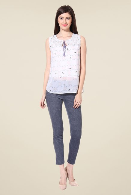 Oxolloxo White Printed Top
