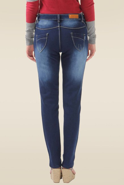 Monte Carlo Blue Mid Rise Slim Fit Jeans
