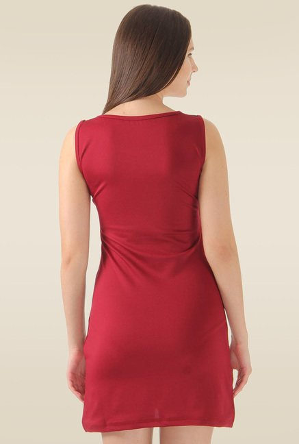 Monte Carlo Maroon Slim Fit Dress