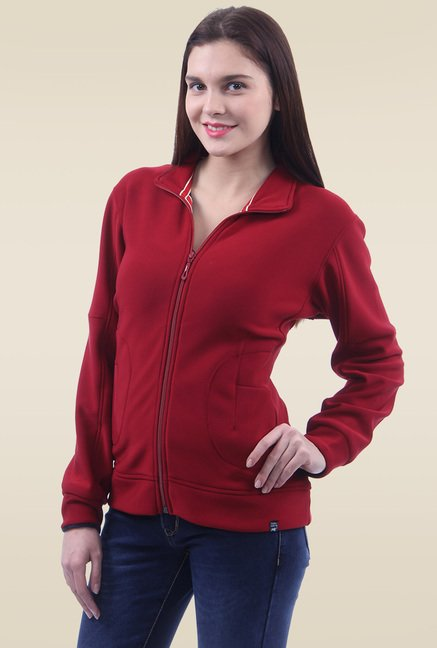 Monte Carlo Red Full Sleeves Slim Fit Sweatshirt