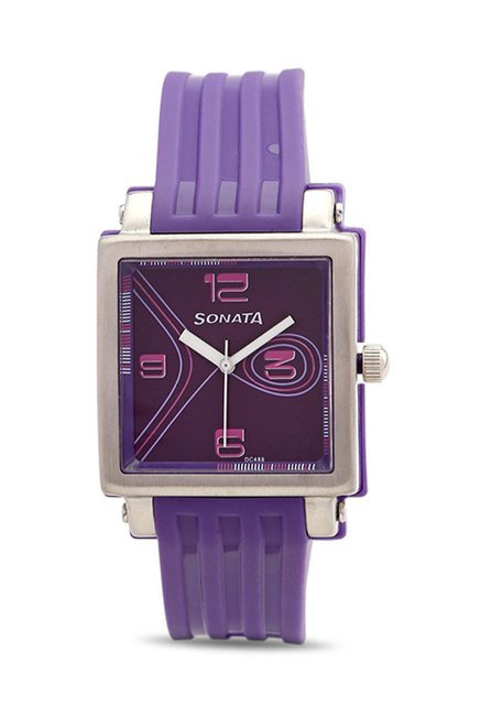 Sonata NH8990PP01CJ Fashion Fibre Analog Watch for Women