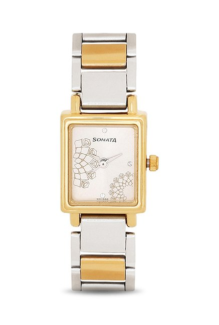 Sonata Wedding Analog Silver Dial Women's Watch, 8080BM01