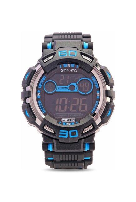 Sonata NH77009PP02J Ocean Series Digital Watch for Men