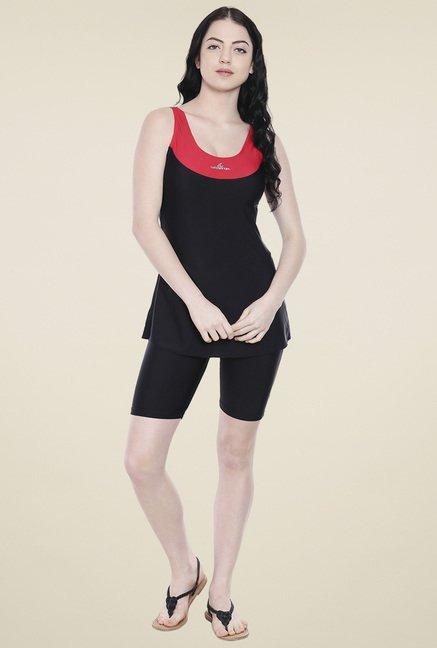 Lobster Black & Red Sleeveless Swimwear