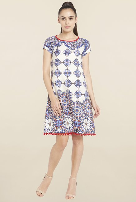 Globus Blue Printed Dress