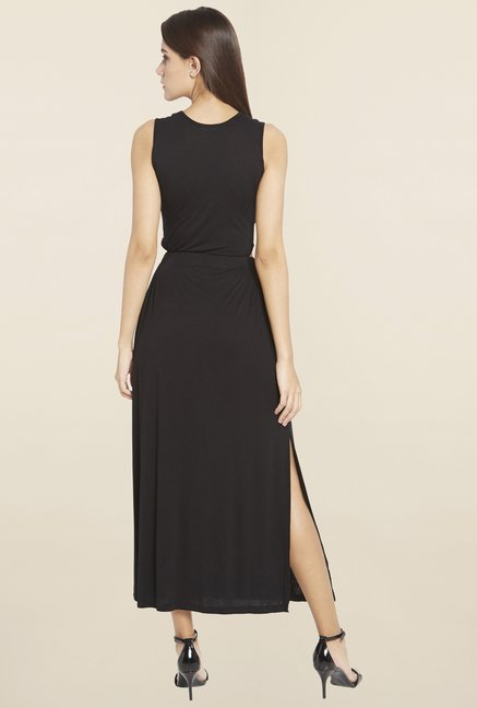 Globus Black Solid Dress