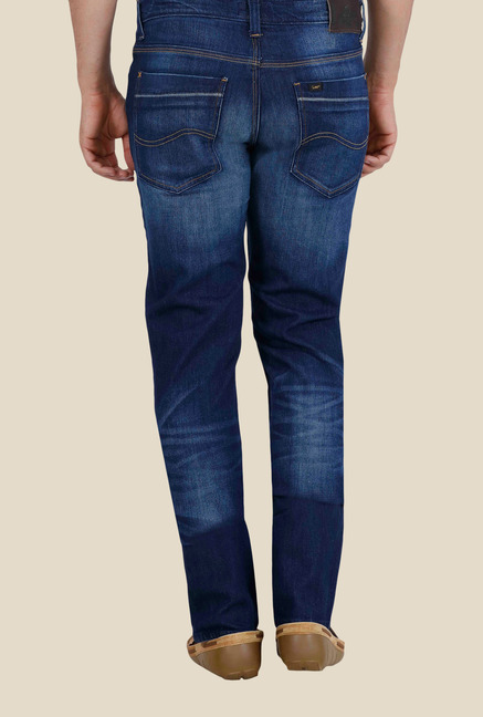 Buy Lee Bruce Navy Low Rise Jeans for Men Online @ Tata CLiQ