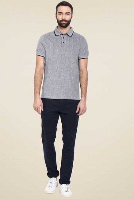 celio* Grey Regular Fit Polka Printed T-Shirt