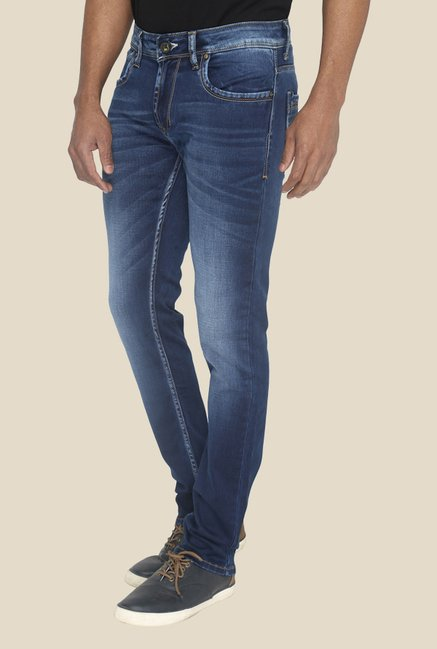 Greenfibre Blue Solid Denim Jeans