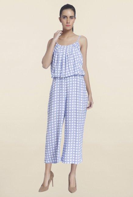 Vero Moda Blue Printed Jumpsuit