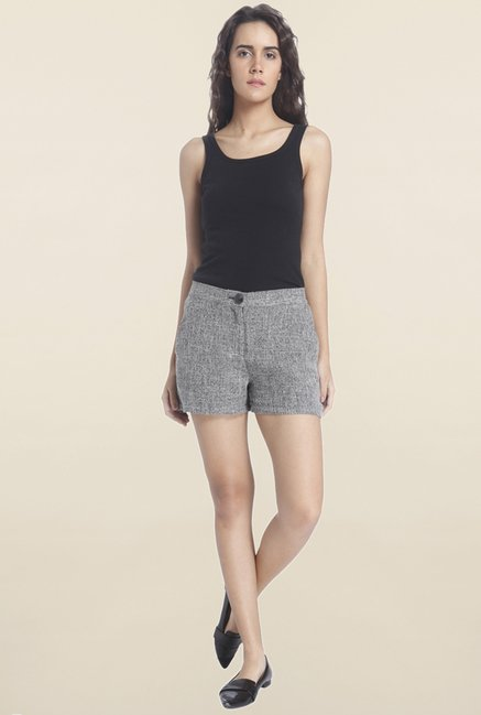 Vero Moda Grey Textured Shorts